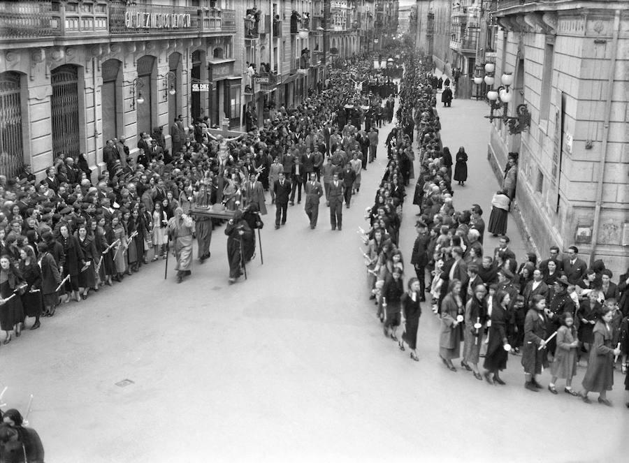 Salida de la Caída. Autor desconocido, 1935. (Archivo Casa de la Imagen- Logroño)